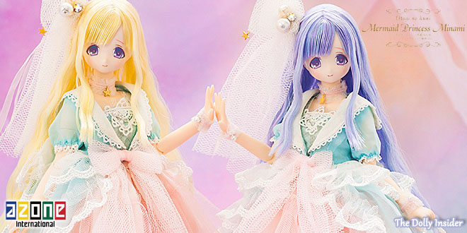 Mermaid Princess Minami Golden Pearl & Blue Lagoon by Azone International
