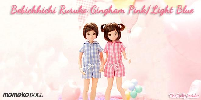 Bebichhichi Ruruko Gingham Pink/Light Blue by Sekiguchi