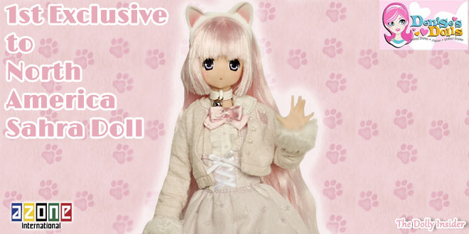 1st Exclusive to North America: Sahra's a la mode: Meow × Meow a la mode White Cat Sahra by Azone International