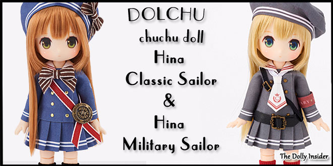 chuchu doll Hina Classic Sailor and Military Sailor by DOLCHU & Dollybird