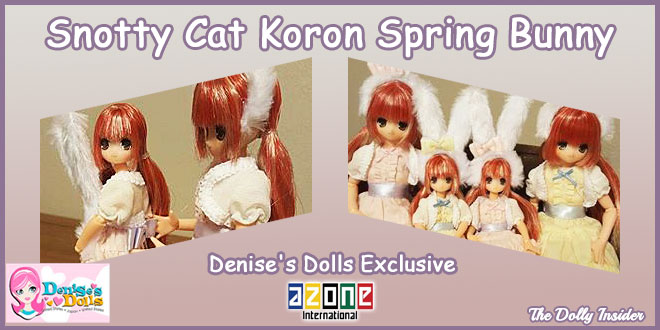 Denise's Dolls Exclusive: Snotty Cat Koron Spring Bunny by Azone International