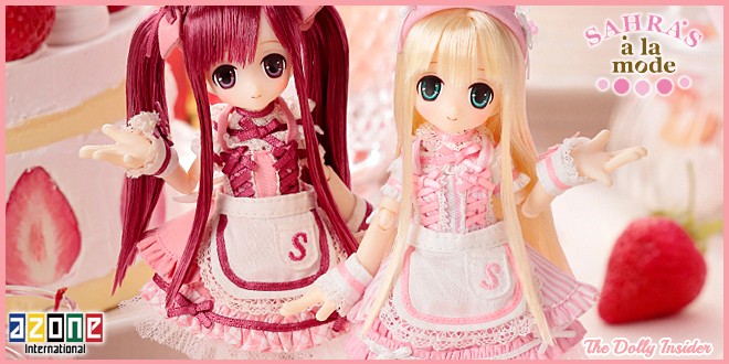 Picco Sahra's a la Mode Sweets a la Mode Sahra White Strawberry Shortcake & Sahra Sweet Strawberry Shortcake by Azone International