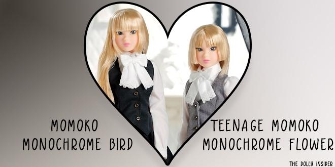 Momoko MONOCHROME BIRD & Teenage Momoko MONOCHROME FLOWER  by Sekiguchi